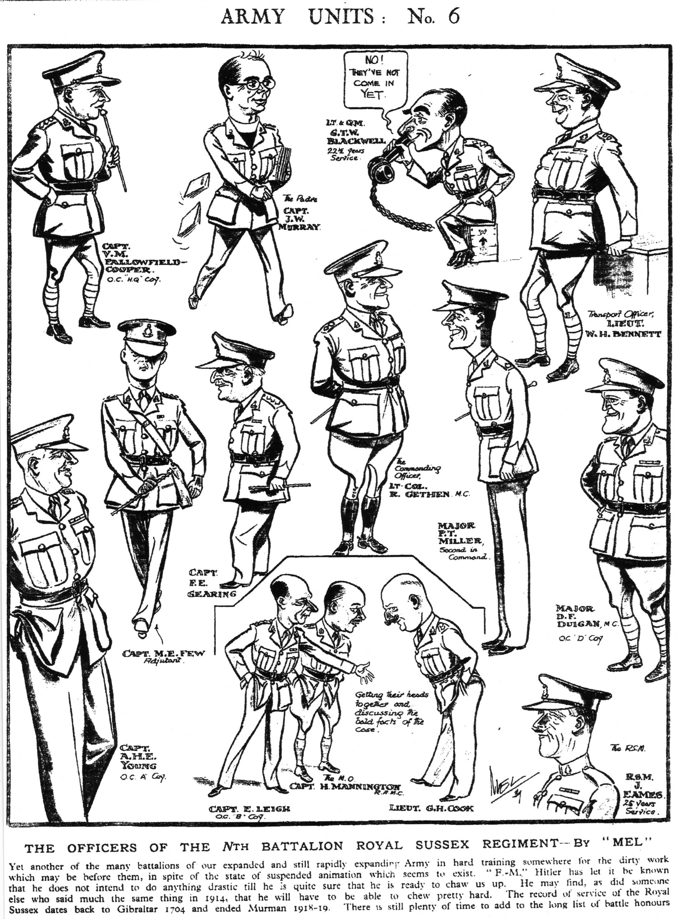 Battalion Officers (Cartoon)